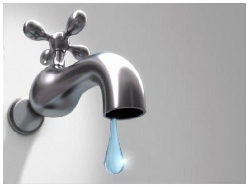Кран с каплей воды