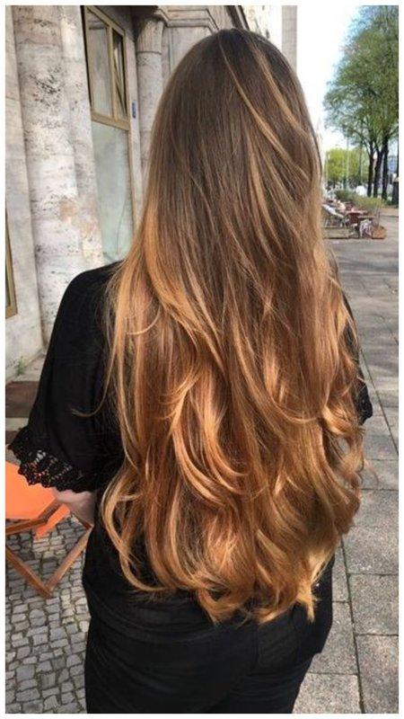 Бэбилайтс окрашивание на длинные волосы фото
