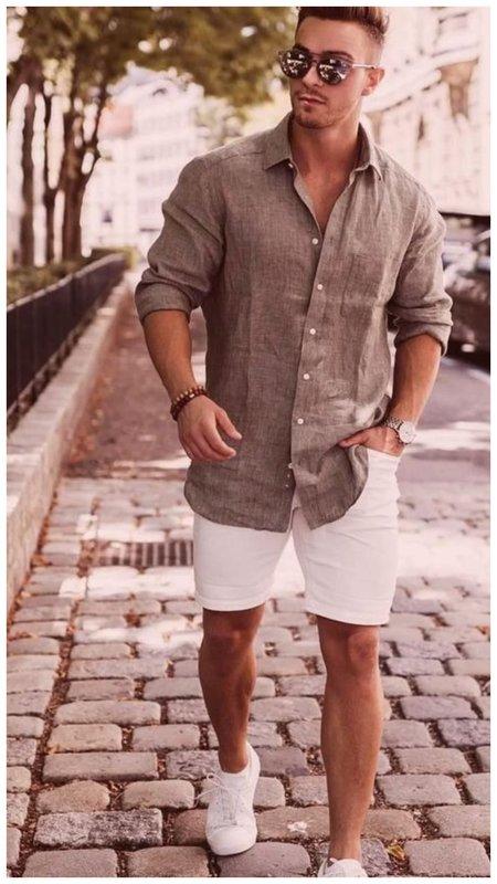 Как мужчине носить рубашку летом