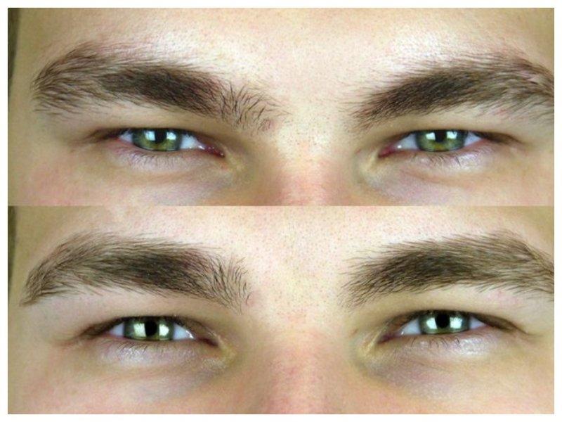 Коррекция формы бровей для мужчин