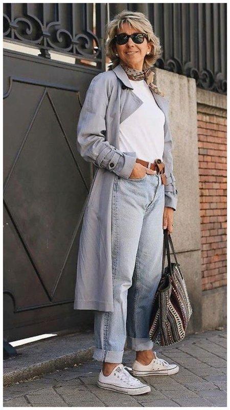 Образ с джинсами 50+