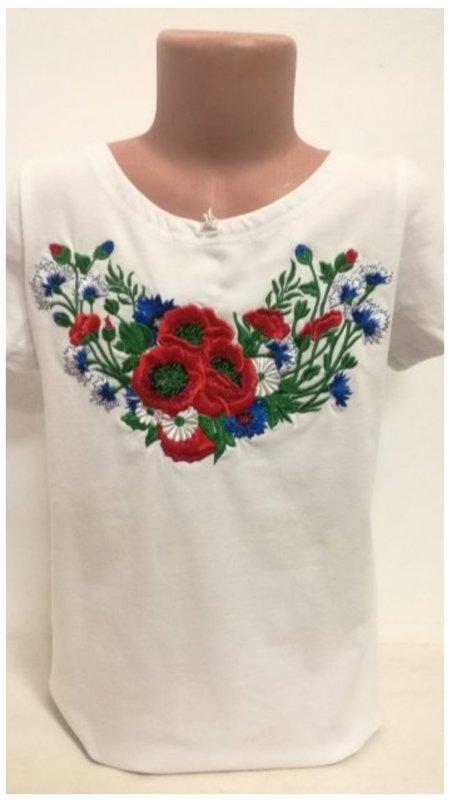 Цветочный букет на футболке