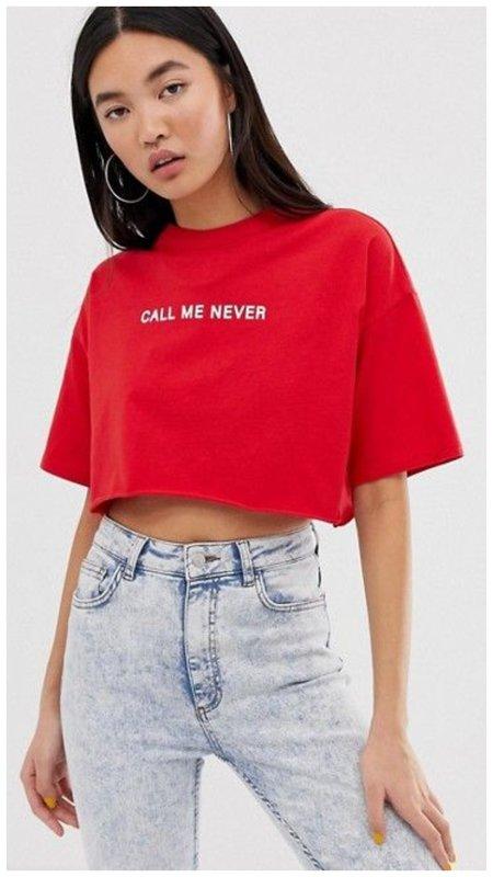 Топ-футболка красный