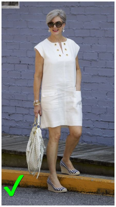 Актуальная длина платья для женщины 50+