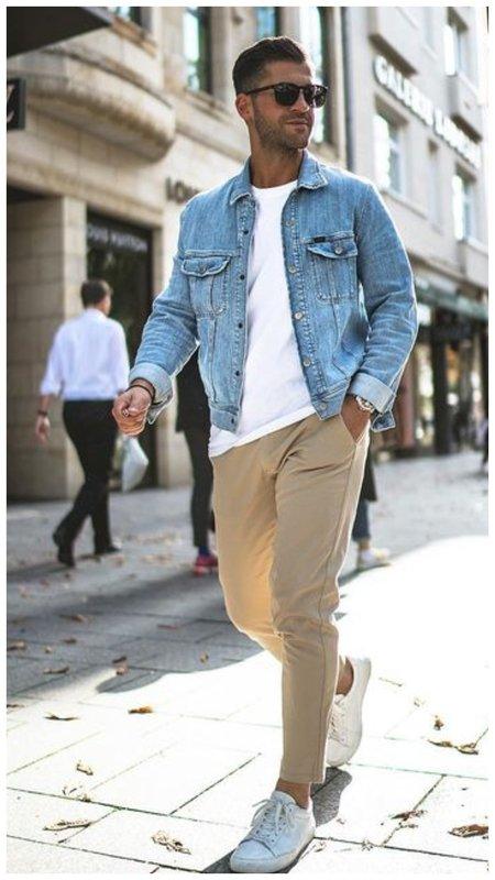 Мужской летний образ с джинсовой курткой