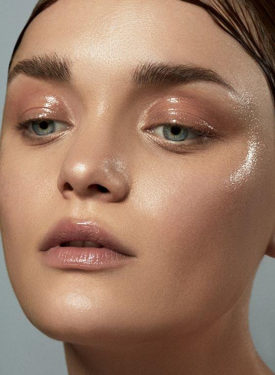 Что такое мокрый макияж