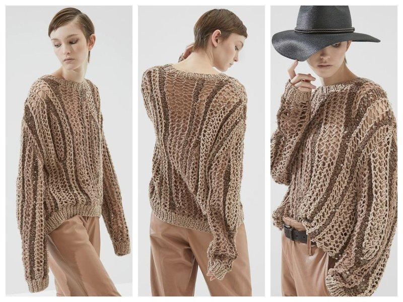 Свитер с модным плетением