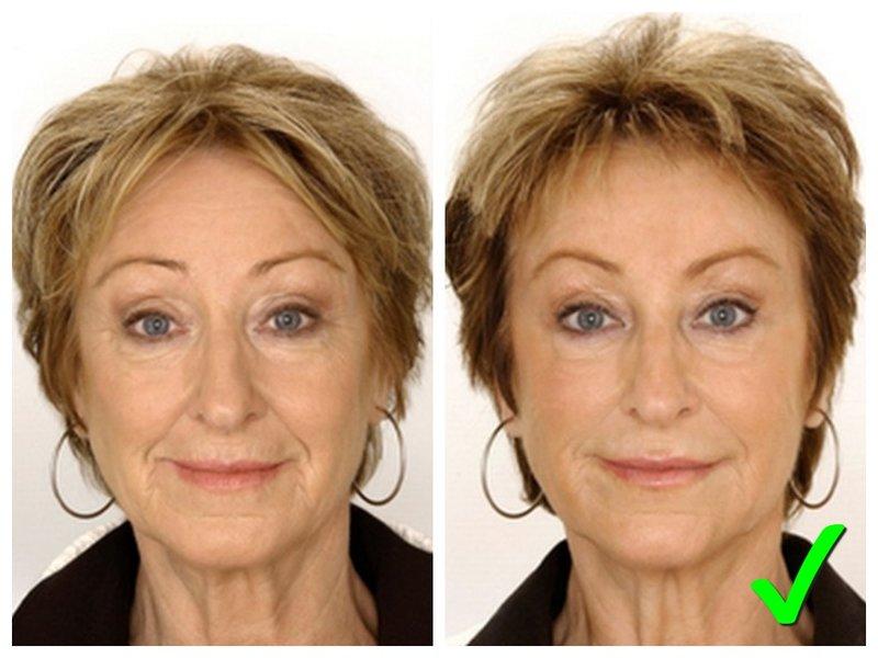 Пример макияжа для женщины 50 лет