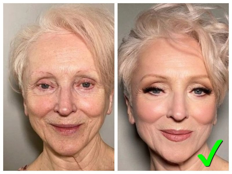 Пример макияжа на свадьбу 50+ лет