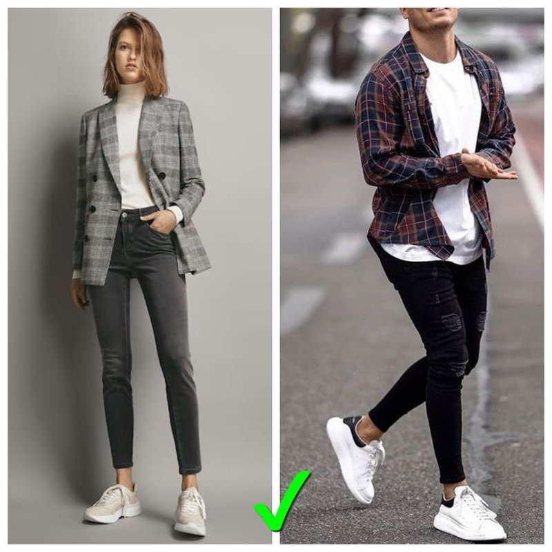 Как правильно носить скинни женщинам и мужчинам