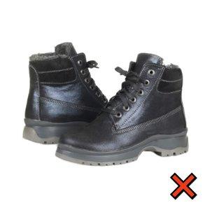 Немодные ботинки со шнурками