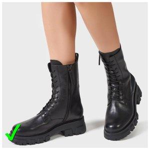 Ботинки со шнуровкой на зиму