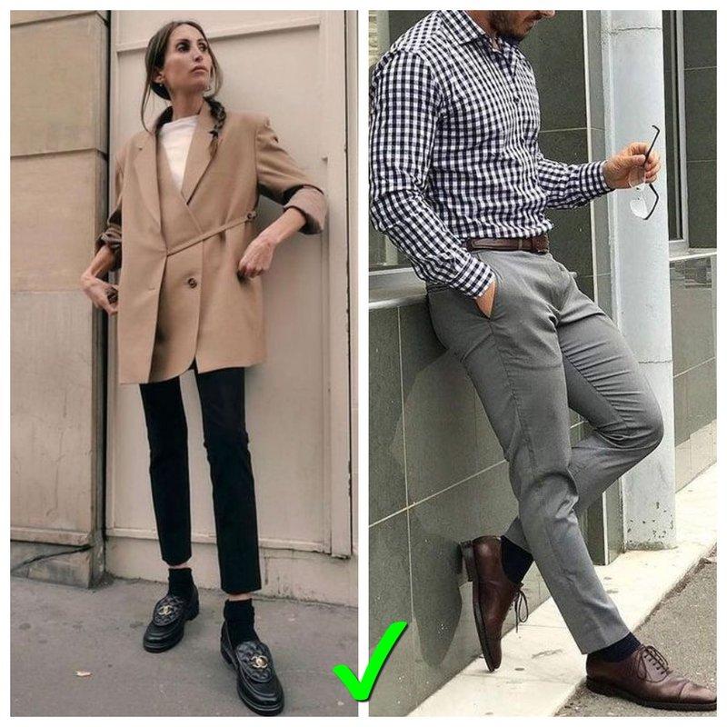 Как носить носки мужчине и женщине