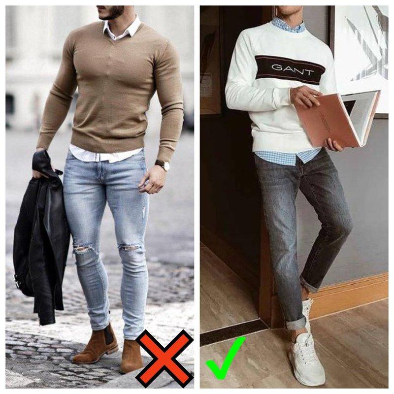 Как мужчине носить джемпер и рубашку осенью