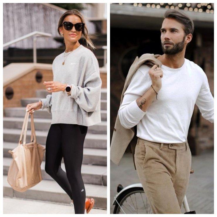 мужская и женская уличная мода