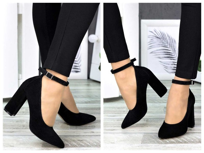 Туфли с ремешком и брюки