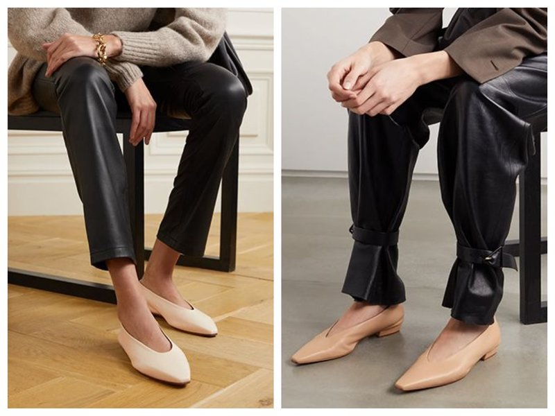 Как носить балетки с брюками