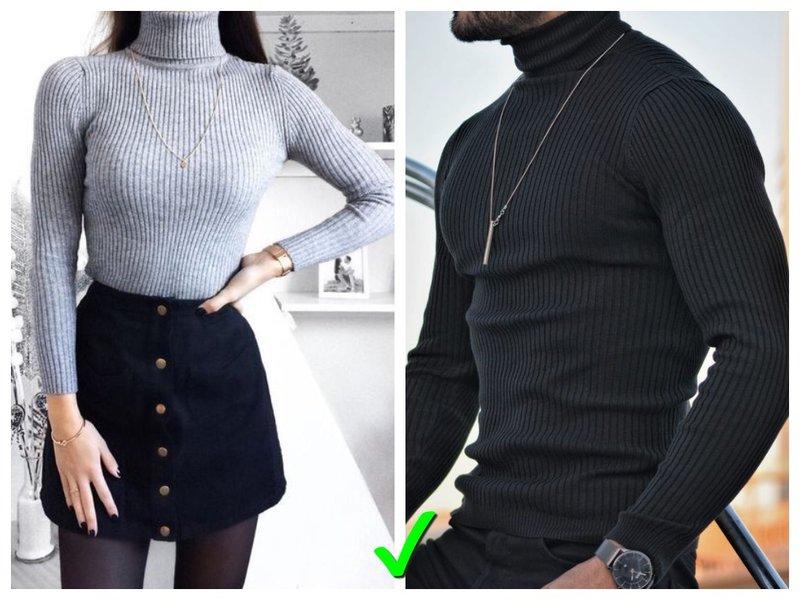 Как носить водолазку мужчине и женщине