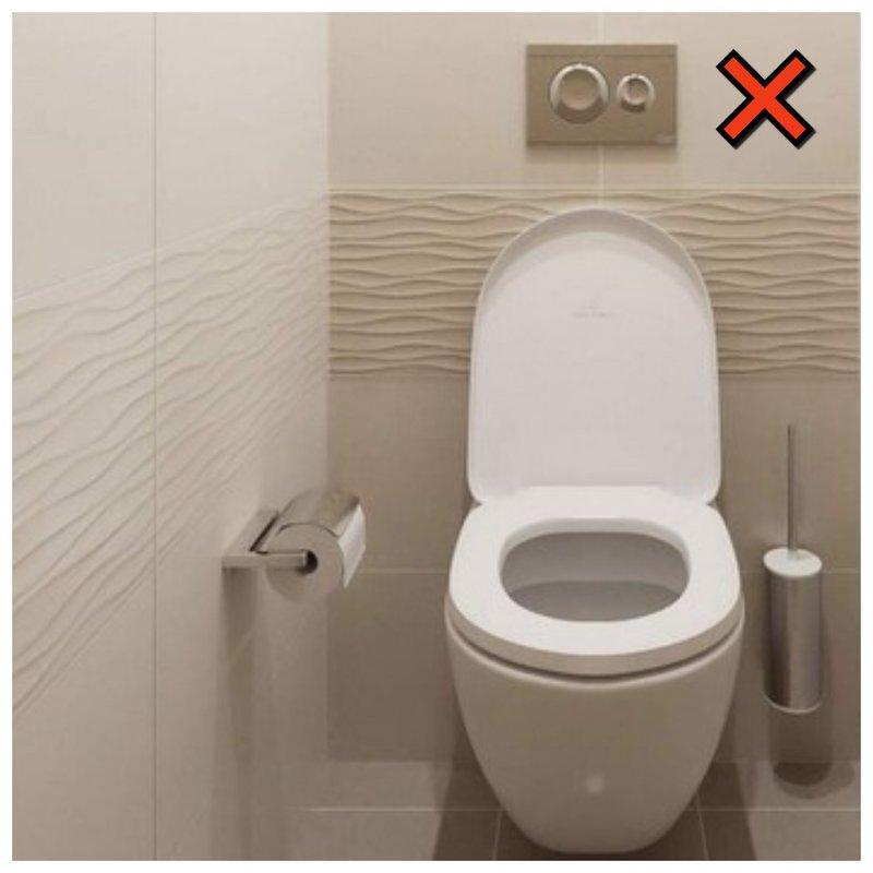 Обычный туалет без гигиенического душа