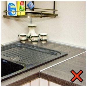 Профиль на кухонной столешнице