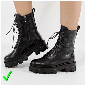 Модные грубые ботинки