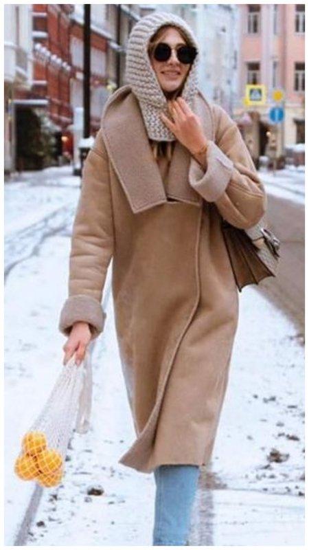 Как носить капор и пальто