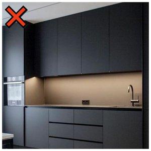 Темный фасад кухни