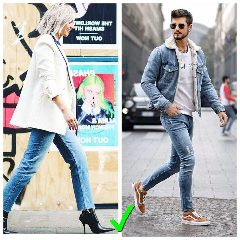 какой длины должны быть джинсы