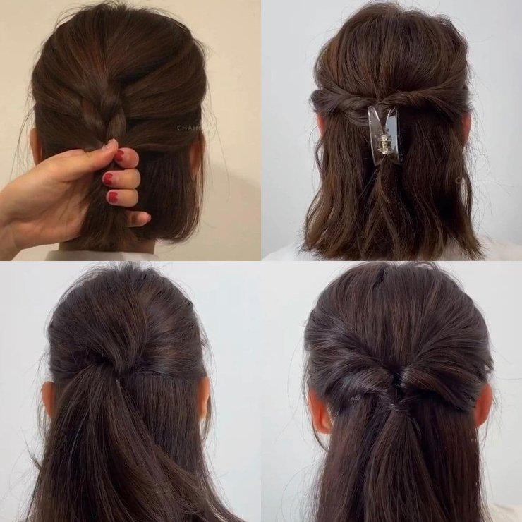 Как собрать волосы быстро и легко