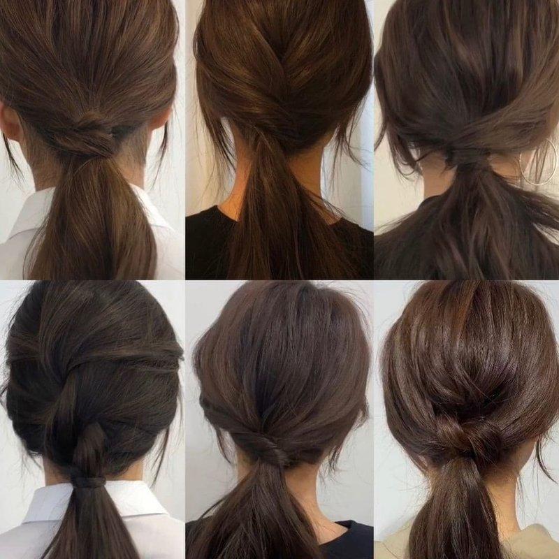 Прикольные способы собрать волосы в низкий хвост