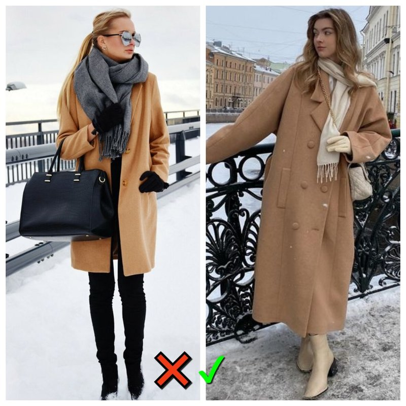 Пальто и подходящий шарф