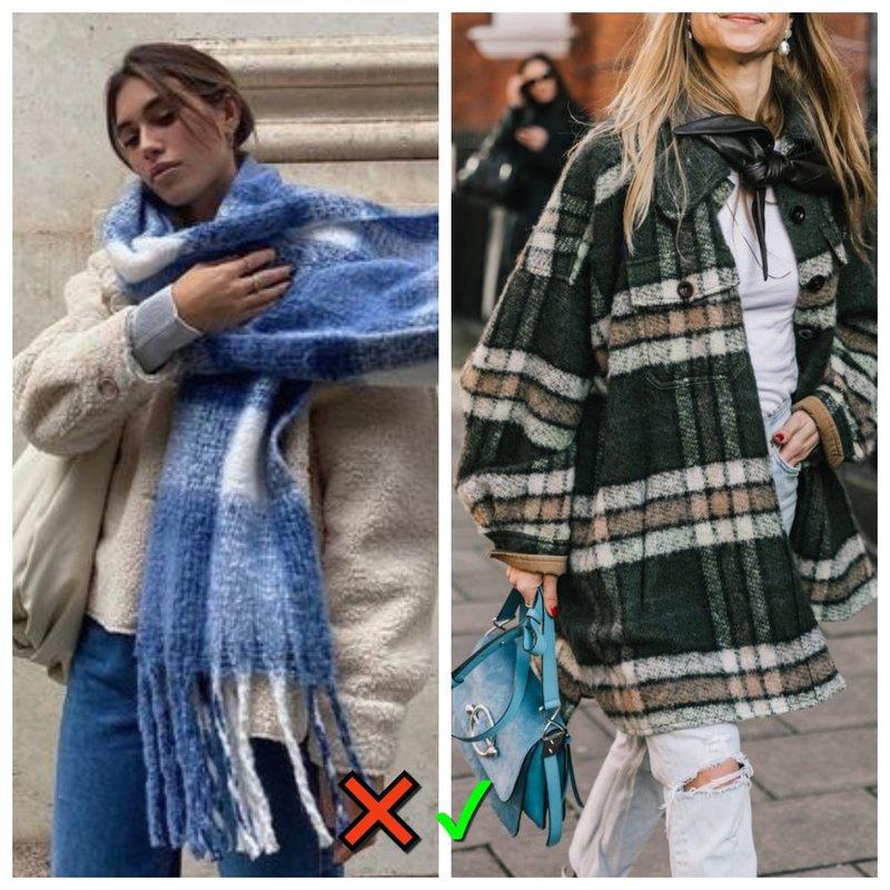 Куртка рубашка и шарф