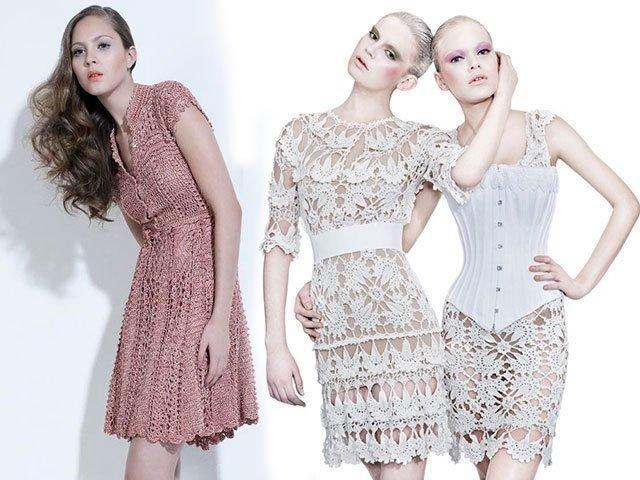 Вязаные платья для женщин модные модели