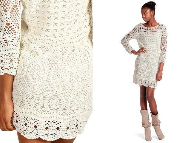 Платья из тонкой пряжи вязание