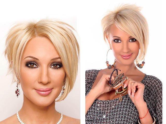 Короткие стрижки для женщин после 40 лет фото мелирование на темные волосы фото