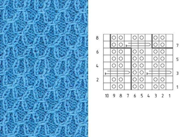 Вязание спицами со схемами