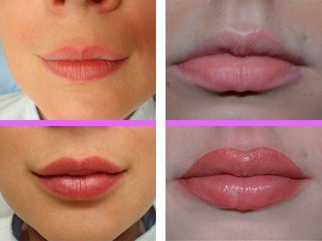 Перманентный макияж губ 3д