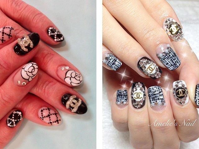 Наращивание ногтей со стразами
