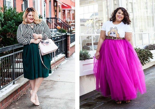 Сшить длинные юбки для полных женщин