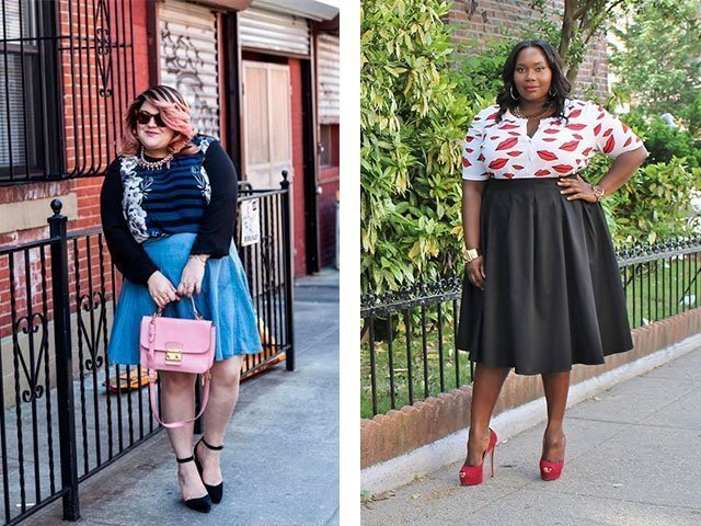 Юбки для полных женщин фото