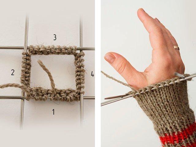 Как вязать варежки для начинающих спицами