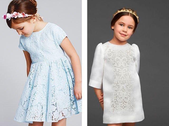 ажур спицами платье для девочки