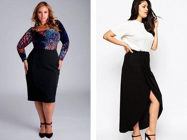 Модели  для полных женщин фото с животом