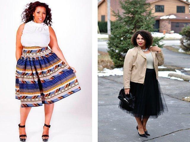Длина юбки для женщин маленького роста