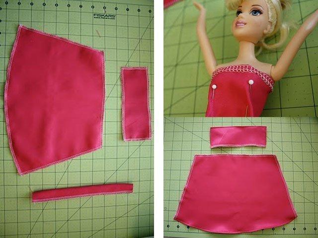 Как сшить платье на машинке для куклы