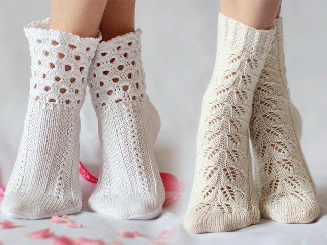Как вязать носок