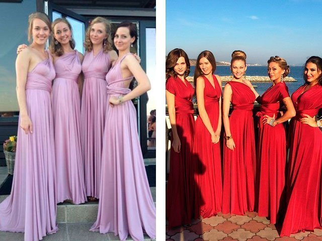 Фиолетовое платье для подружки невесты купить