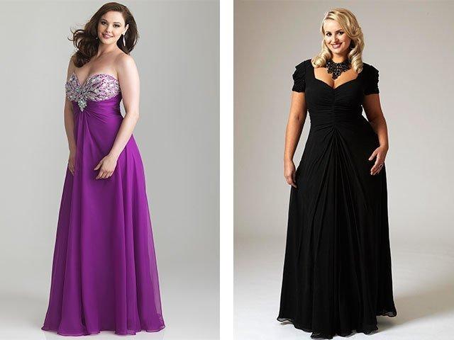 Длинные платья для полных женщин на торжество