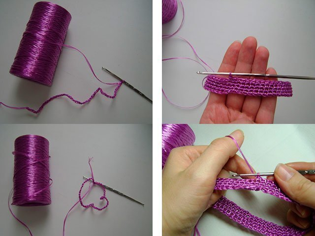 как связать мочалку крючком пошаговая инструкция с фото для начинающих - фото 8