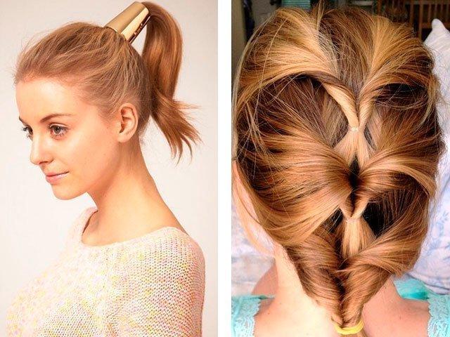 Несложные причёски с плетением